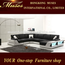 2015 NEW sofa design sectional sofa with LED lighting AS503#