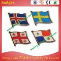 cuatro bandera de insignias bordadas para la decoración de tela