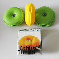 wholesale round soft silicone turtle earphone cable winder