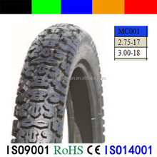 Qingdao top quality rubber motorcycle tyre 2.75-17,3.00-18