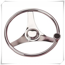 Stainless Steel Boat Steering Wheel w/ Speed Knob