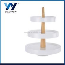 Three layers white acrylic cake stand