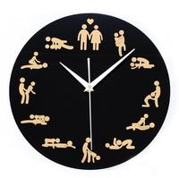 glass sex sex clock, acrylic clock / wall clocks / plexiglass clock