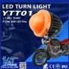 Orange / Black Smoke 41mm Motorcycle Indicator Turn Signal Amber Light for yamaha, suzuki, harley chopper