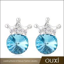 OUXI 2015 summer hot sale rose crystal stud earrings 20700