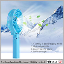 Summer Gift USB 18650 Battery Operated Mini Hand Held Fan for Family Travelling