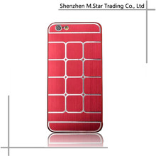 New Arrival Hot Sale Deluxe Luxury Back Aluminum Metal Lattice Skin Shell Case For iPhone 6 Cover
