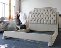 Modern foshan furniture china princess style beds with unique wooden feet
