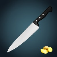 """kitchen knife Superior quality 10"""" Stainless steel blade chef knife/kitcen knife with forged POM handle"""