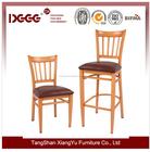 Revestimento de madeira barato comercial de Metal cadeira de jantar usado