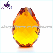 Competitive Price Half Grilled Teardrop CZ Stones Bead
