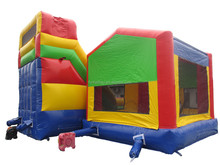 Factory direct inflatable trampoline with inflatable obstacles, inflatable castle, inflatable slide