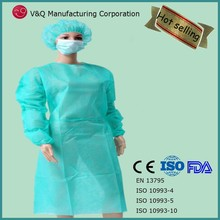 CE ISO FDA approved medical use surgical / disposable gown waterproof