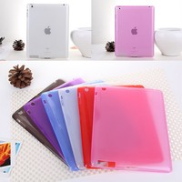 Hot Selling Clear Transparent TPU Soft Case For Apple iPad 2/3/4