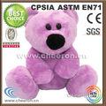 fabricación de animales de peluche de color rosa bebé niña del oso de peluche