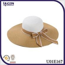 wholesale Ribbon and wheat straw lampshade straw sun hats