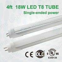 Compatible with Electronica BallastUL DLC approved T8 18w 4ft tube led