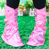 2015 Beautiful pure color Women Waterproof rain PVCshoe cover