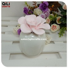 pink ceramic flower aroma diffuser with ceramic bottle
