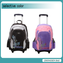 Look!!cheap trolley children backpack nylon red and black school backpack in the world 30L backpack