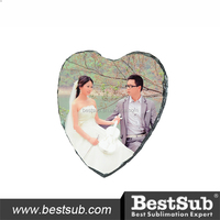 Heart Shape Sublimation Natura Rock Slate Photo For Wedding Decoration