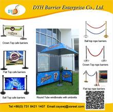 Promotional cafe barriers cafe screens, cafe street banner frame, Stainless steel cafe barrier for sale