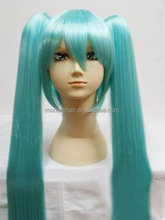 Cheap price high quality synthetic hatsune miku cosplay wig