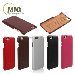 For iphone 6 leather case, pu leather back cover For iphone 6 4.7'' phone case