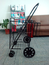 wholesale wholesale folding shopping cart, different kinds of collapsible cart with wheels