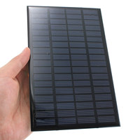Excellent quality 18V 2.5W Polycrystalline Stored Energy Power Solar Panel Module System Solar Cells Charger 19.4x12x0.3cm