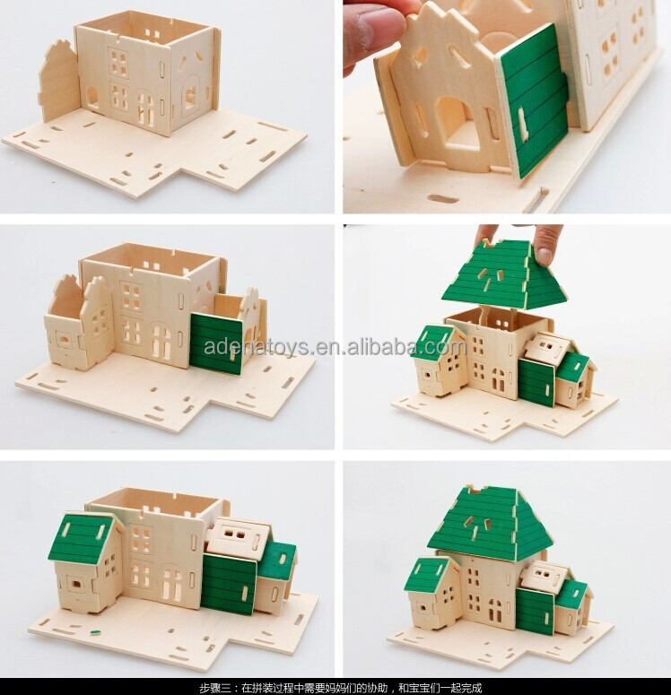 Wooden crafts manufacturer educational toy 3d diy toys for Craft toys for kids
