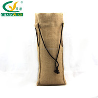 nature jute burlap stand bag with rope handle