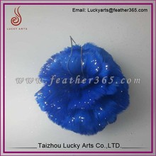 Taizhou lucky arts 2015 colorful feather ball for wedding wall decoration