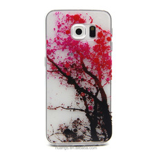 High Level Bright Red Ample Tree TPU Back Case for Samsung Galaxy S6 Edge case