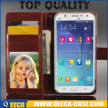 Top quality magnetic&wallet&card holder case leather flip cover for samsung galaxy j5