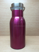 Eco Mirror Finish Heat Preservation 750ml Double Wall Stainless Steel Sports Water Bottle Custom With Bamboo Lid