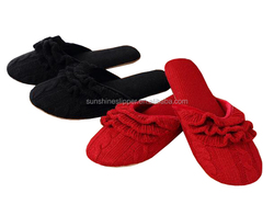 2016 winter ladies knitting house warm slippers