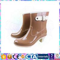 comfortable design ladies popular high heel rain shoes