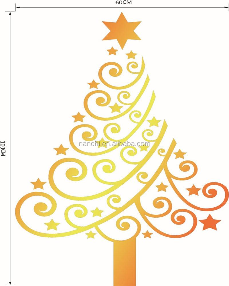 Merry Christmas Xmas Tree Santa Claus Wall Sticker Home Decoration ...