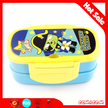 Two layer plastic lunch box for kids lunch box kid shool lunchbox travel/office lunch box.