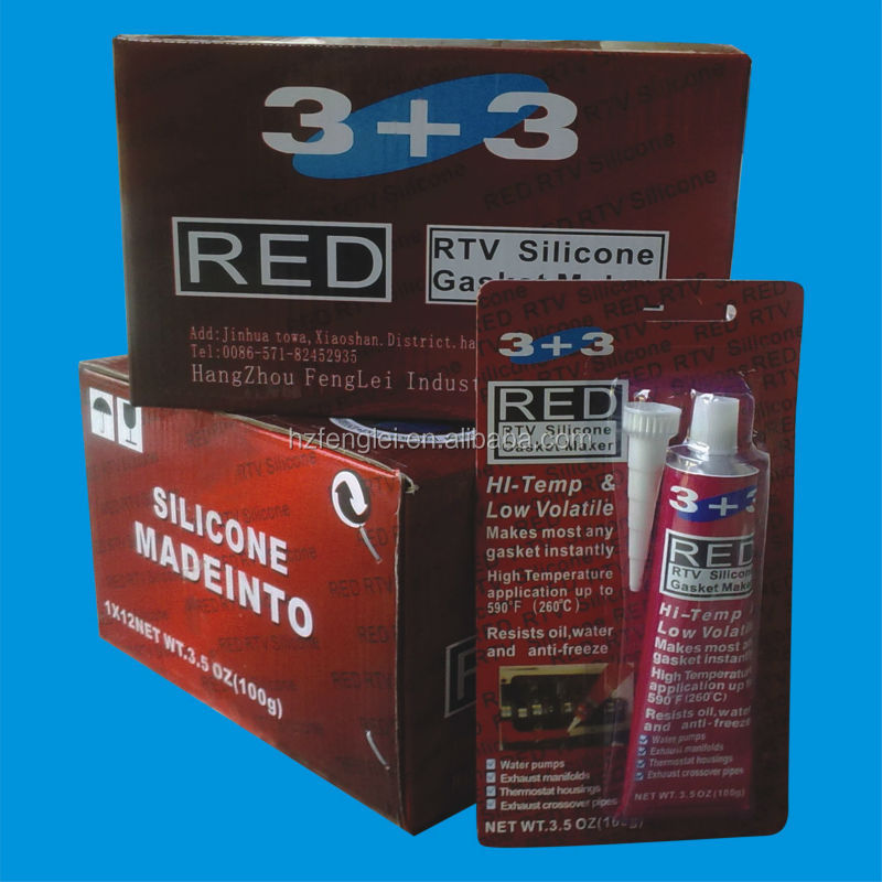 Black/Red/Grey/Clear Rtv Silicone Gasket Maker