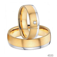 mens and womens couples wedding band stainless steel gold plated matte stainless steel wedding band jewelry
