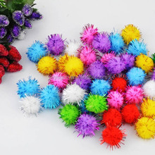 Assorted Color Metallic Tinsel Pompoms