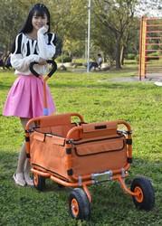 garden foldable kids hand pusher tool trolley