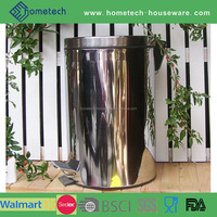 Promotion round foot pedal mirror finished stainless steel rubbish bin