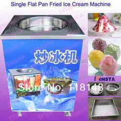 price of fried ice cream machine single circle pan ice cream fry machine factory direct sale fried ice cream machine