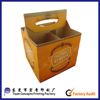 cheap American style kraft paper beer carrier box