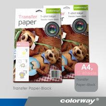 New design inkjet heat transfer photo paper A4 size white/dark for cotton t-shirt