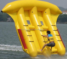 Fashionable style flyfish banana boat,0.9mm pvc tarpaulin water park sports,towable water flying fish