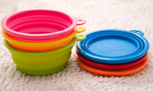 Pet Expandable / Collapsible Silicone Food & Water Travel Bowl
